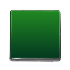 Green To Dark Green Gradient Memory Card Reader With Storage (square)