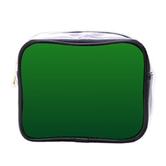 Green To Dark Green Gradient Mini Travel Toiletry Bag (One Side)