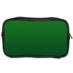 Green To Dark Green Gradient Travel Toiletry Bag (two Sides)