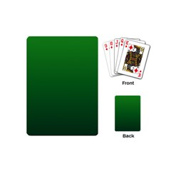 Green To Dark Green Gradient Playing Cards (Mini)