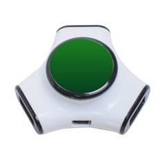 Green To Dark Green Gradient 3 Port USB Hub
