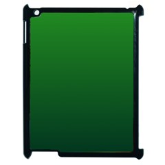 Green To Dark Green Gradient Apple Ipad 2 Case (black)