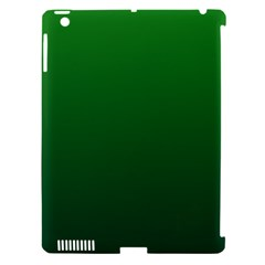 Green To Dark Green Gradient Apple iPad 3/4 Hardshell Case (Compatible with Smart Cover)