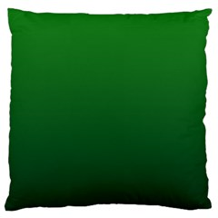 Green To Dark Green Gradient Large Cushion Case (two Sides)