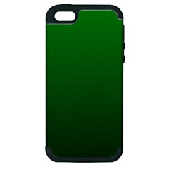 Green To Dark Green Gradient Apple iPhone 5 Hardshell Case (PC+Silicone)