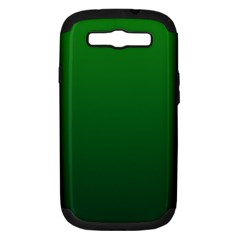 Green To Dark Green Gradient Samsung Galaxy S Iii Hardshell Case (pc+silicone)
