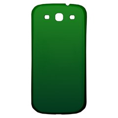Green To Dark Green Gradient Samsung Galaxy S3 S Iii Classic Hardshell Back Case