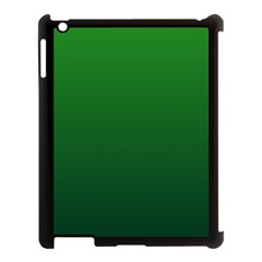 Green To Dark Green Gradient Apple iPad 3/4 Case (Black)