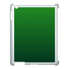 Green To Dark Green Gradient Apple iPad 3/4 Case (White)