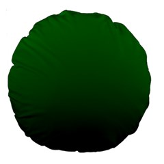 Green To Dark Green Gradient 18  Premium Round Cushion