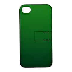 Green To Dark Green Gradient Apple iPhone 4/4S Hardshell Case with Stand