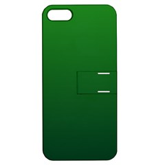 Green To Dark Green Gradient Apple Iphone 5 Hardshell Case With Stand