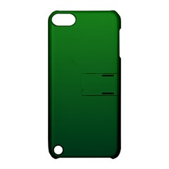 Green To Dark Green Gradient Apple iPod Touch 5 Hardshell Case with Stand