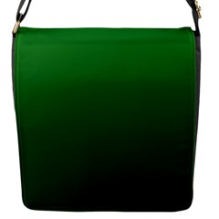 Green To Dark Green Gradient Flap Closure Messenger Bag (small)