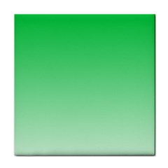 Dark Pastel Green To Pastel Green Gradient Ceramic Tile