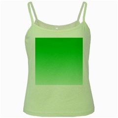 Dark Pastel Green To Pastel Green Gradient Green Spaghetti Tank