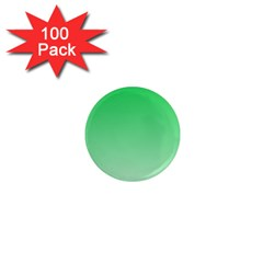 Dark Pastel Green To Pastel Green Gradient 1  Mini Button Magnet (100 pack)