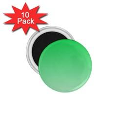 Dark Pastel Green To Pastel Green Gradient 1 75  Button Magnet (10 Pack)