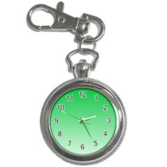 Dark Pastel Green To Pastel Green Gradient Key Chain & Watch