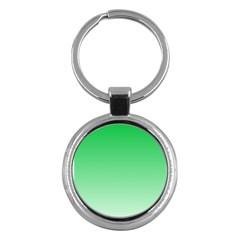 Dark Pastel Green To Pastel Green Gradient Key Chain (Round)