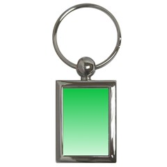 Dark Pastel Green To Pastel Green Gradient Key Chain (Rectangle)