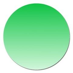 Dark Pastel Green To Pastel Green Gradient Magnet 5  (Round)