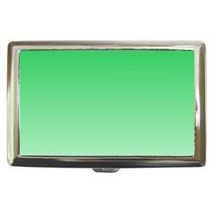 Dark Pastel Green To Pastel Green Gradient Cigarette Money Case