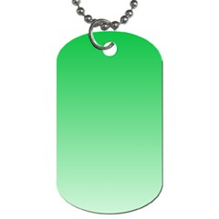 Dark Pastel Green To Pastel Green Gradient Dog Tag (Two Sided)