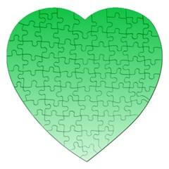 Dark Pastel Green To Pastel Green Gradient Jigsaw Puzzle (Heart)