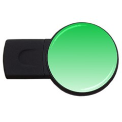 Dark Pastel Green To Pastel Green Gradient 4GB USB Flash Drive (Round)