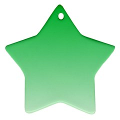 Dark Pastel Green To Pastel Green Gradient Star Ornament (Two Sides)
