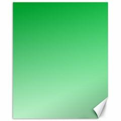 Dark Pastel Green To Pastel Green Gradient Canvas 16  x 20  (Unframed)
