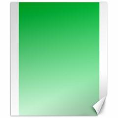 Dark Pastel Green To Pastel Green Gradient Canvas 20  X 24  (unframed)