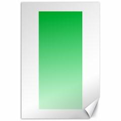 Dark Pastel Green To Pastel Green Gradient Canvas 24  X 36  (unframed)