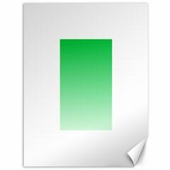 Dark Pastel Green To Pastel Green Gradient Canvas 36  x 48  (Unframed)