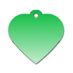 Dark Pastel Green To Pastel Green Gradient Dog Tag Heart (one Sided)