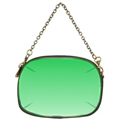 Dark Pastel Green To Pastel Green Gradient Chain Purse (Two Side)