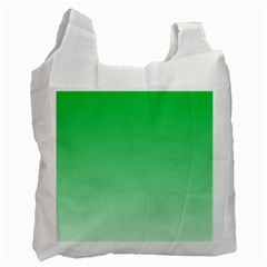 Dark Pastel Green To Pastel Green Gradient Recycle Bag (two Sides)