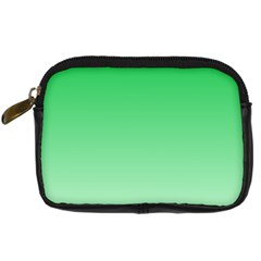 Dark Pastel Green To Pastel Green Gradient Digital Camera Leather Case