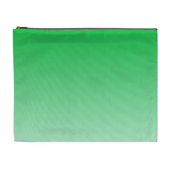 Dark Pastel Green To Pastel Green Gradient Cosmetic Bag (xl)