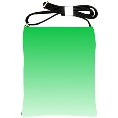 Dark Pastel Green To Pastel Green Gradient Shoulder Sling Bag