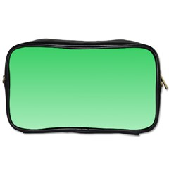 Dark Pastel Green To Pastel Green Gradient Travel Toiletry Bag (two Sides)