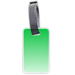 Dark Pastel Green To Pastel Green Gradient Luggage Tag (Two Sides)
