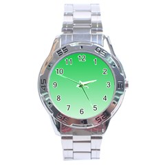 Dark Pastel Green To Pastel Green Gradient Stainless Steel Watch (Men s)