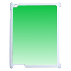 Dark Pastel Green To Pastel Green Gradient Apple iPad 2 Case (White)
