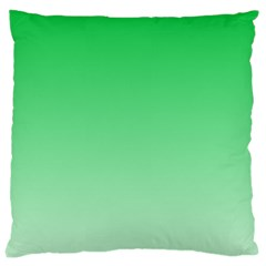 Dark Pastel Green To Pastel Green Gradient Large Cushion Case (one Side)