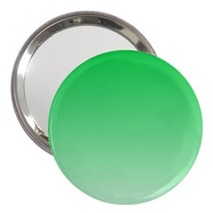 Dark Pastel Green To Pastel Green Gradient 3  Handbag Mirror