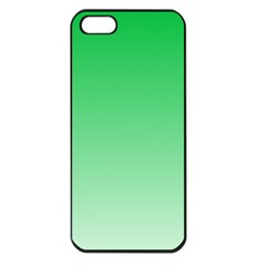 Dark Pastel Green To Pastel Green Gradient Apple Iphone 5 Seamless Case (black)