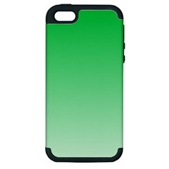 Dark Pastel Green To Pastel Green Gradient Apple iPhone 5 Hardshell Case (PC+Silicone)