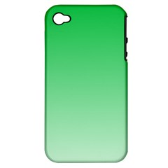 Dark Pastel Green To Pastel Green Gradient Apple iPhone 4/4S Hardshell Case (PC+Silicone)